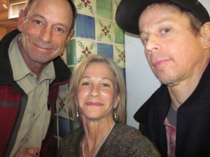 3 cinqtegenerians: John Adams-Cowboy, Paula Graves Adams-so happy 2B mistaken for Ellen Barkin by a 70 yr. old, Britt Alexander-drummer. Tesuque, Feb. 5th.