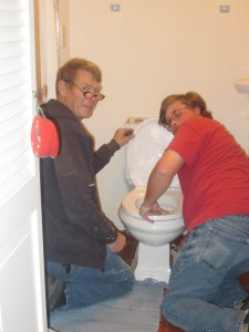 """Delbert and Thomas Cash, Paula's bathroom"