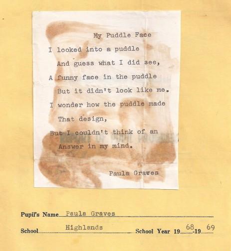 """My Puddle Face, Paula Adams, 9"""