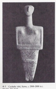 """Cycladic idol"""