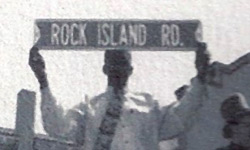 Mayor Ivanhoe Love, naming street Rock Island Road