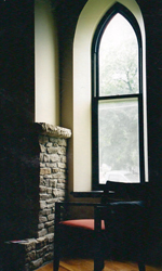 Detail of the gothic window in the Cottonwood Falls project